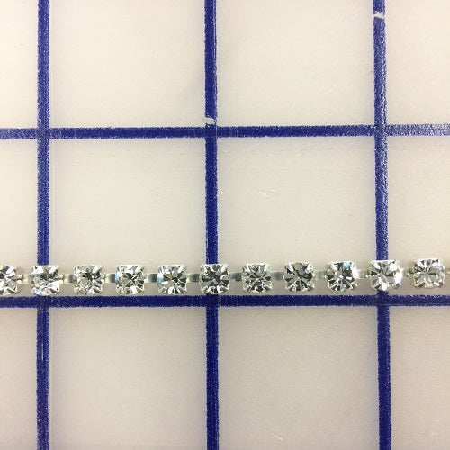 Rhinestone Trim - #18CS Czech Chain 18ss Crystal on Silver