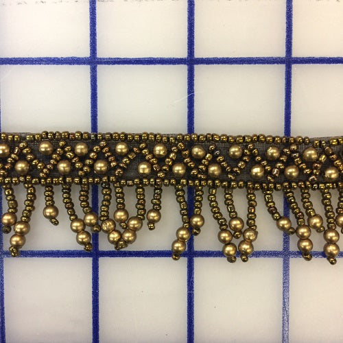 Beaded Trim - 1.33-inch Beaded Trim Bronze