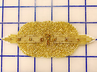 Applique - FR-174-GDTZ Gold with Topaz Art Deco-Style