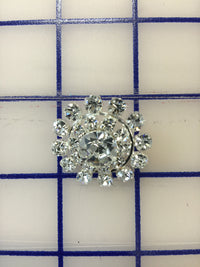 Crystal Rhinestone Button