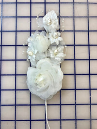 Flowers - Flower Spray Headpiece Ivory