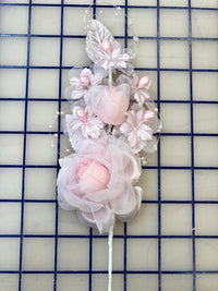 Flowers - Flower Spray Headpiece Pink