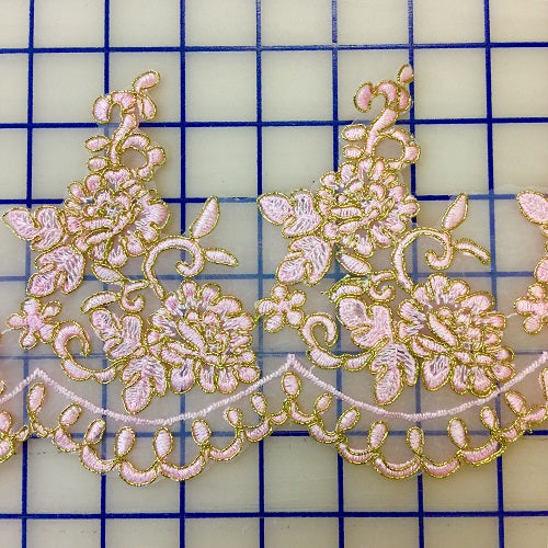 Metallic Trim - 5-inch Pink and Gold