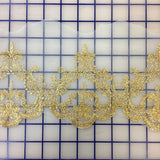 Metallic Trim - 5-inch Gold and White