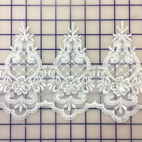 Lace Trim - 6-inch Scalloped Lace White