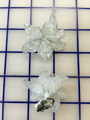 Flower Clips White