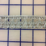 Metallic Trim - 1-inch Metallic Silver