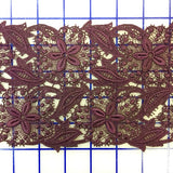 Lace Trim: 5-inch Wine Lace Close-Out