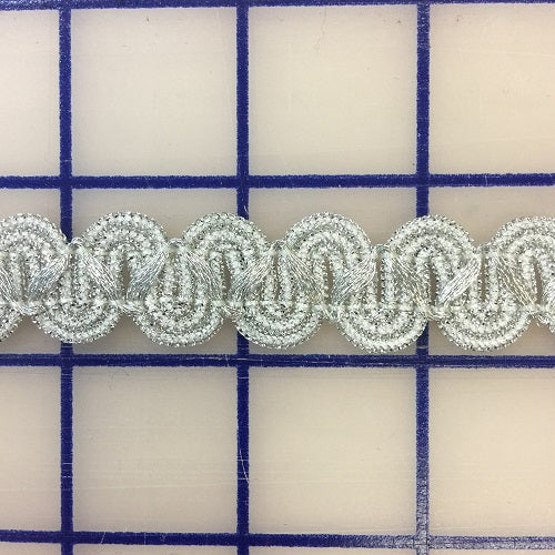 Metallic Trim - 3/4-inch Wave Braid Silver