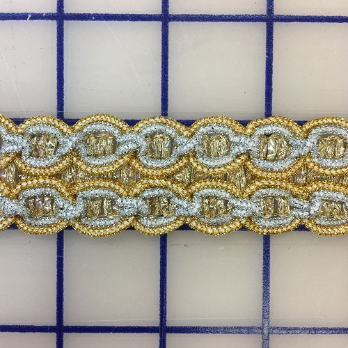 Metallic Trim - 1-inch Gold and Silver