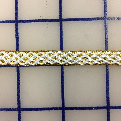 Metallic Trim - 3/8-inch Wide Gold and White