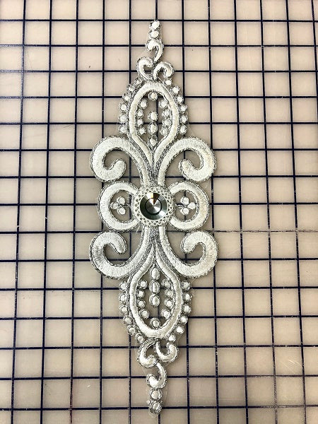 Applique - White/Silver Elegant