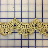 Metallic Trim - 2.75-inch Scalloped Gold