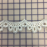 Non-Metallic Trim - Scalloped White
