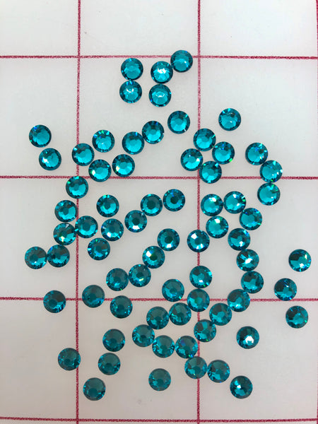 Rhinestones - 20ss Swarovski Hot Fix Blue Zircon 1/2GR