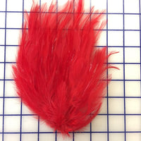 Feather Trim - Hackle Pads Red