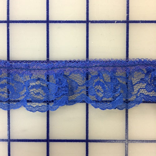 Ruffled Lace Trim - 1.25-inch Ruffled Lace Royal