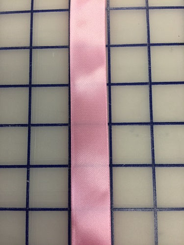 Single Face Satin Ribbon - 7/8-inch Swiss Pink