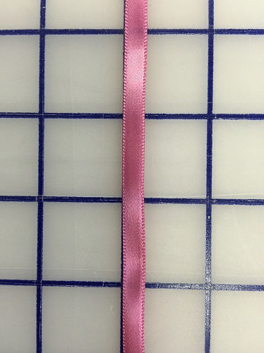 Single Face Satin Ribbon - 1/4-inch Antique Rose