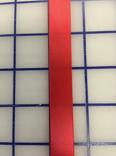 Single Face Satin Ribbon - 5/8-inch Red