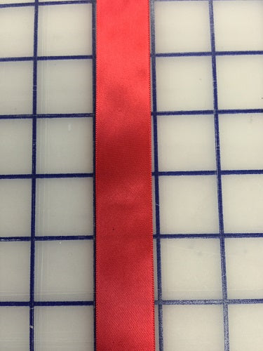 Single Face Satin Ribbon - 7/8-inch Red