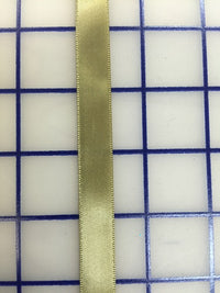 Single Face Satin Ribbon - 1/2-inch Antique Gold