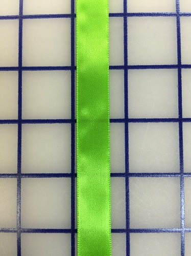 Single Face Satin Ribbon - 5/8-inch Apple Green