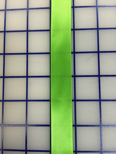 Single Face Satin Ribbon - 7/8-inch Apple Green