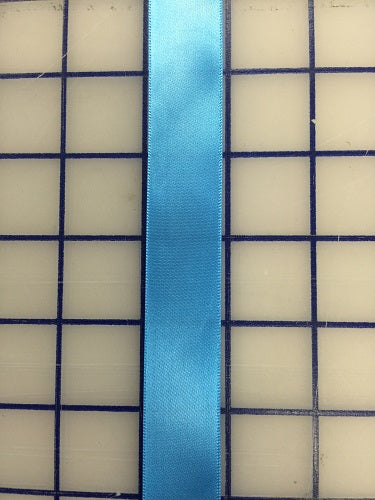 Single Face Satin Ribbon - 7/8-inch Bluebell