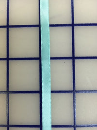 Single Face Satin Ribbon - 1/4-inch Aquamarine
