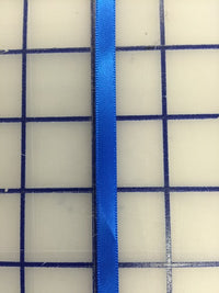 Single Face Satin Ribbon - 1/4-inch Electric Blue