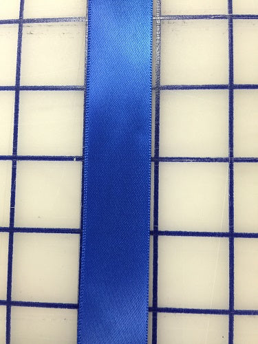 Single Face Satin Ribbon - 7/8-inch Royal