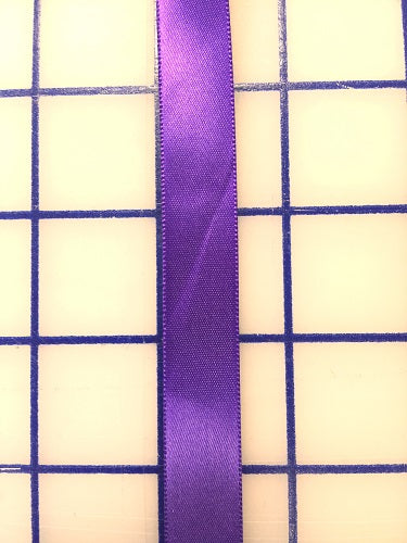 Single Face Satin Ribbon - 5/8-inch Purple