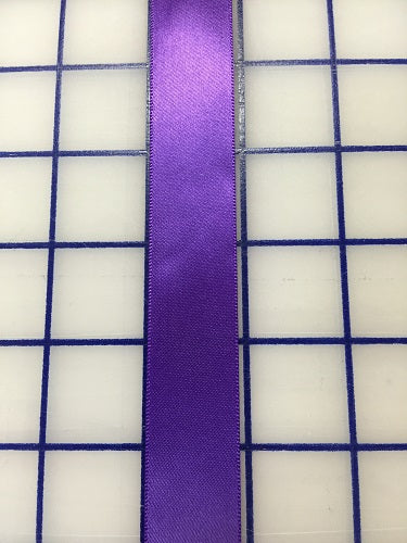 Single Face Satin Ribbon - 7/8-inch Purple
