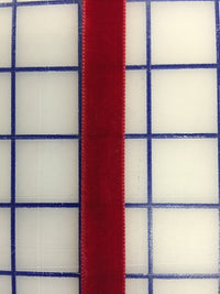 Velvet Ribbon - 5/8-inch Scarlet Red