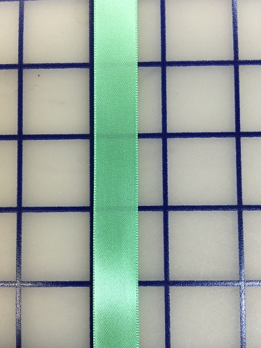 Single Face Satin Ribbon - 5/8-inch Mint Green