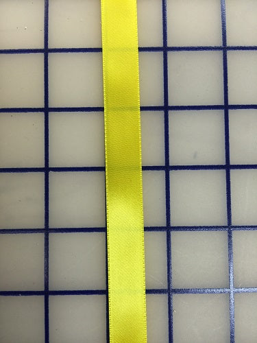 Single Face Satin Ribbon - 5/8-inch Yellow