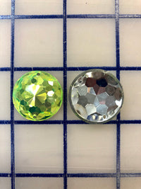 Decorative Gems - 1-inch Small Round Sew-On Gems PERIDOT 3-Pack SPECIAL PURCHASE!