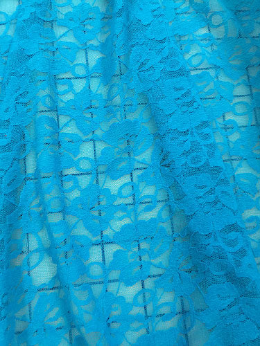Stretch Lace - 72-inches Wide Turquoise