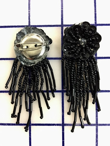 Beaded Pin Black
