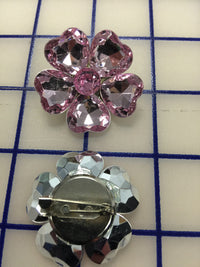 Jeweled Pin Pink