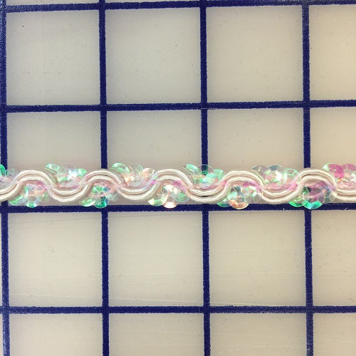 Sequin Trim - 3/8-inch Iridescent Pale Pink