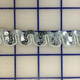 Sequin Trim - 1/2-inch Silver