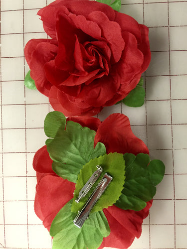 Flowers - Rose Headpiece  Red