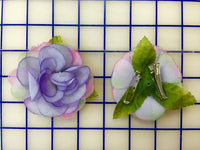 Flowers - Headpiece Pin/Clip Periwinkle