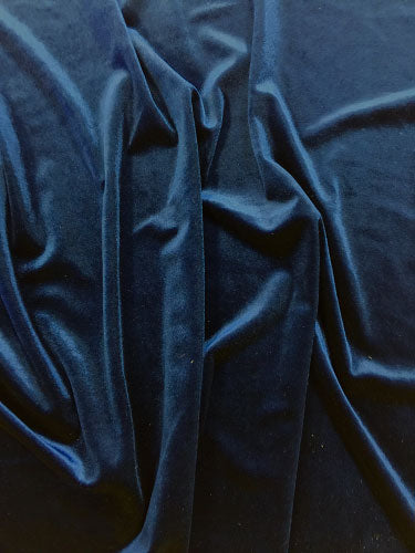 Stretch Velvet - 60-inches Wide Navy