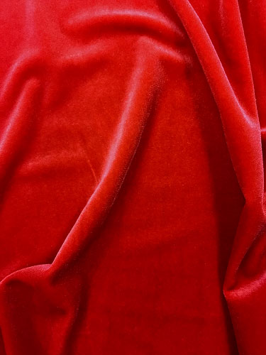 Stretch Velvet - 60-inches Wide Candy Apple Red
