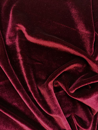 Stretch Velvet - 60-inches Wide Wine