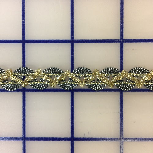 Metallic Trim - 3/8-inch Antique Silver and Gold