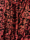 Misc Stretch - 60-inches Wide Flocked Spandex Rose/Black/Gold